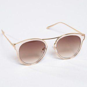 Metal cutout butterfly sunglasses